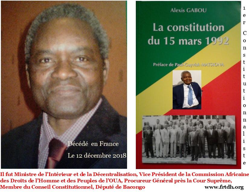 Dr Alexis GABOU Président de la Commission Constitutionnelle et des libertés de la Conférence Nationale Souveraine du 25 février au 10 juin 1991 (Actualités)