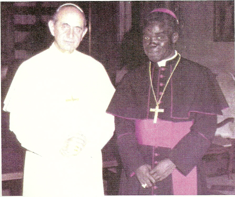 Emile Cardinal BIAYENDA né lé 22 mai 1927 assassiné le 22 mars 1977 ordonné prêtre le 26 octobre 1958 et créé Cardinal le 2 février 1973 par le Pape Paul VI  (Actualités)