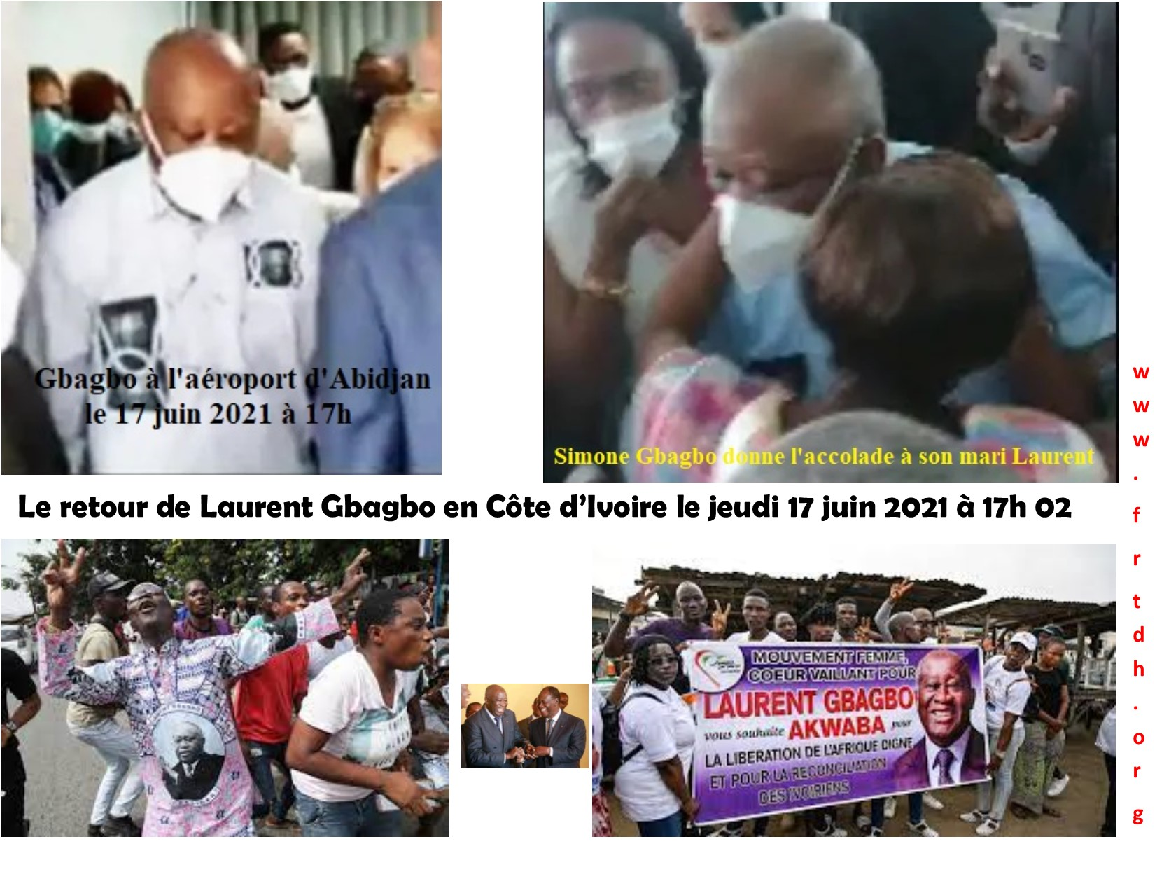 Le retour de Gbagbo à Abidjan une victoire des panafricanistes contre la françafrique et une démarche positive de la CPI avec la probable information sur les crimes de Sassou