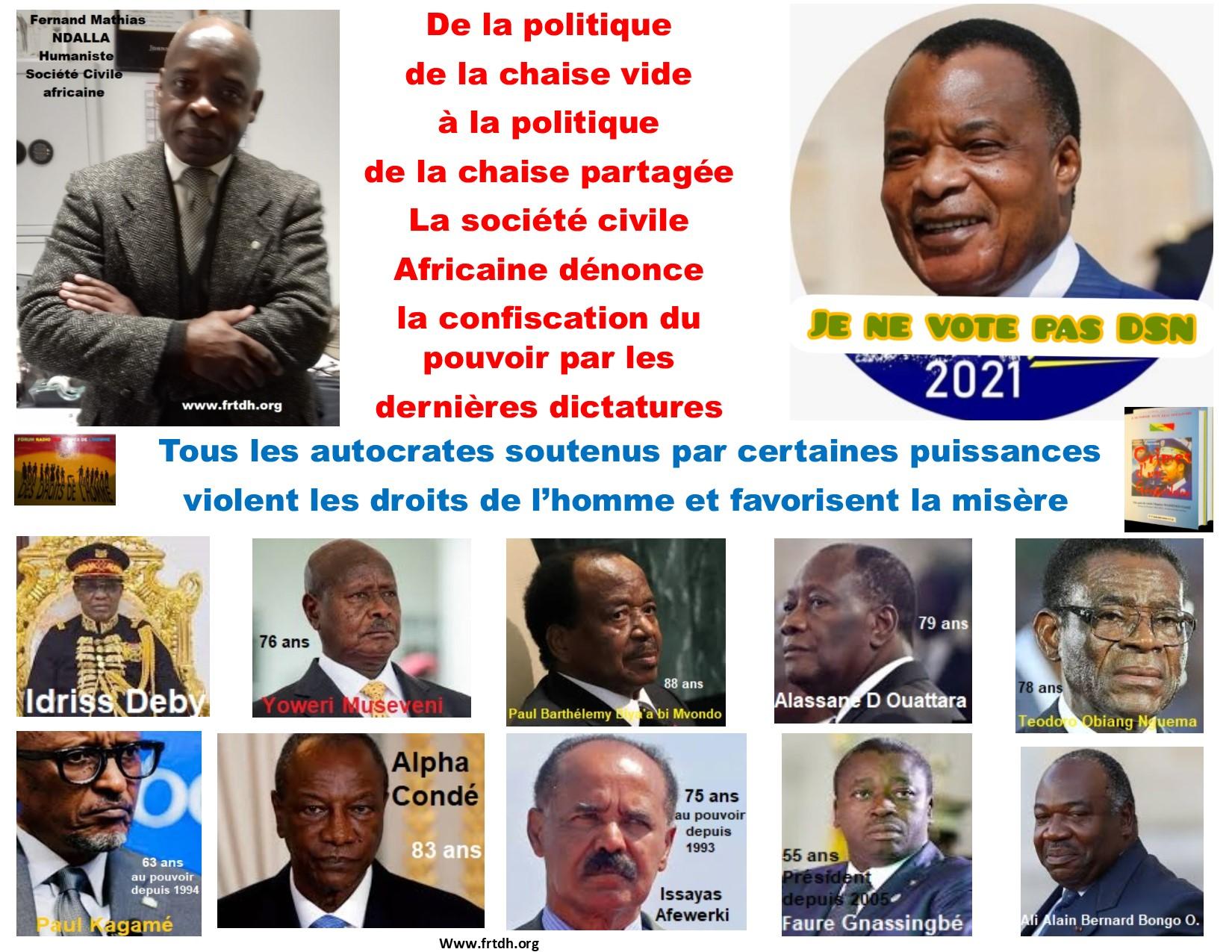Tribune libre: Contribution à une bonne gouvernance, lettre philosophique  aux dictateurs africains et particulièrement à Sassou Nguesso par Fernand Mathias Ndalla