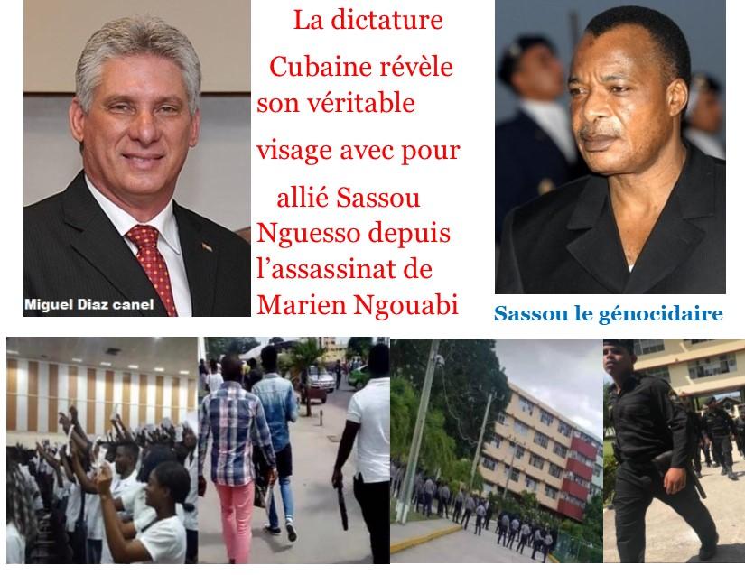 La dictature    Cubaine révèle son véritable  visage avec pour     allié Sassou Nguesso depuis    l'assassinat de Marien Ngouabi (Violations des Droits de l'Homme en Afrique et dans le monde)
