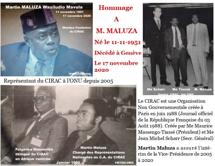 Il y a beaucoup de bien à dire sur Martin Maluza, mais comment pouvons nous la faire reposer en paix sans restituer son brillant parcours. (Nouvelles des ONG, INDH, organisations régionales et onusiennes)
