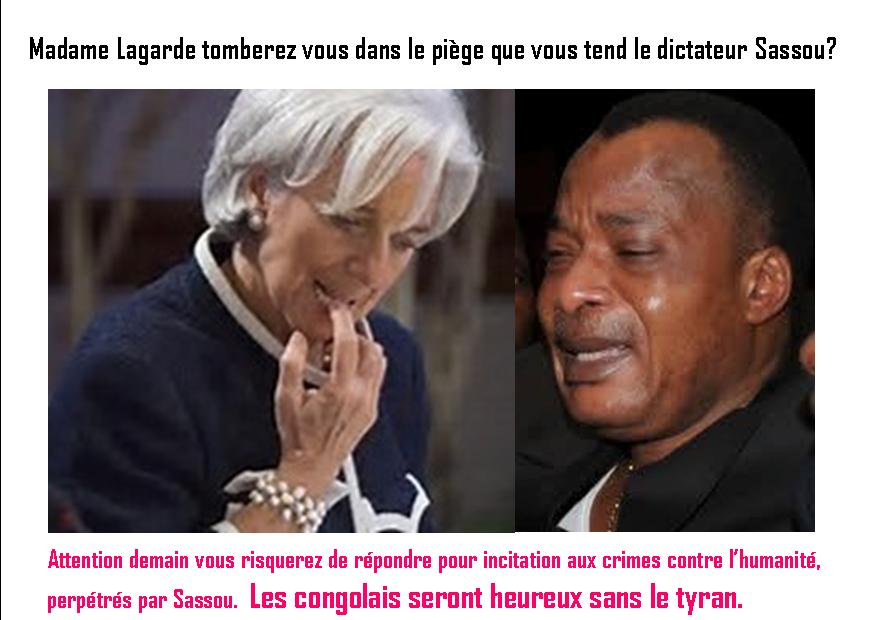 Madame Christine Lagarde serait-elle corrompue par le sanguinaire Sassou Nguesso? (Actualités)