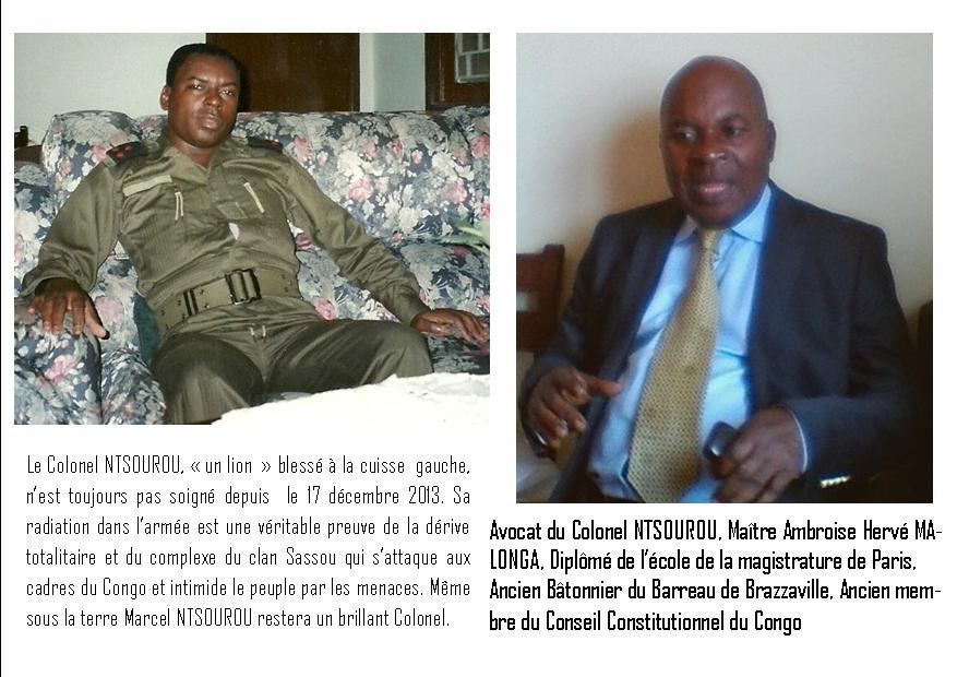 Ntsourou Marcel et Me Malonga ont durant  trois mois et dix jours été compagnons  de fortune dans la maison d'arrêt de Brazzaville en 2012 (Actualités)