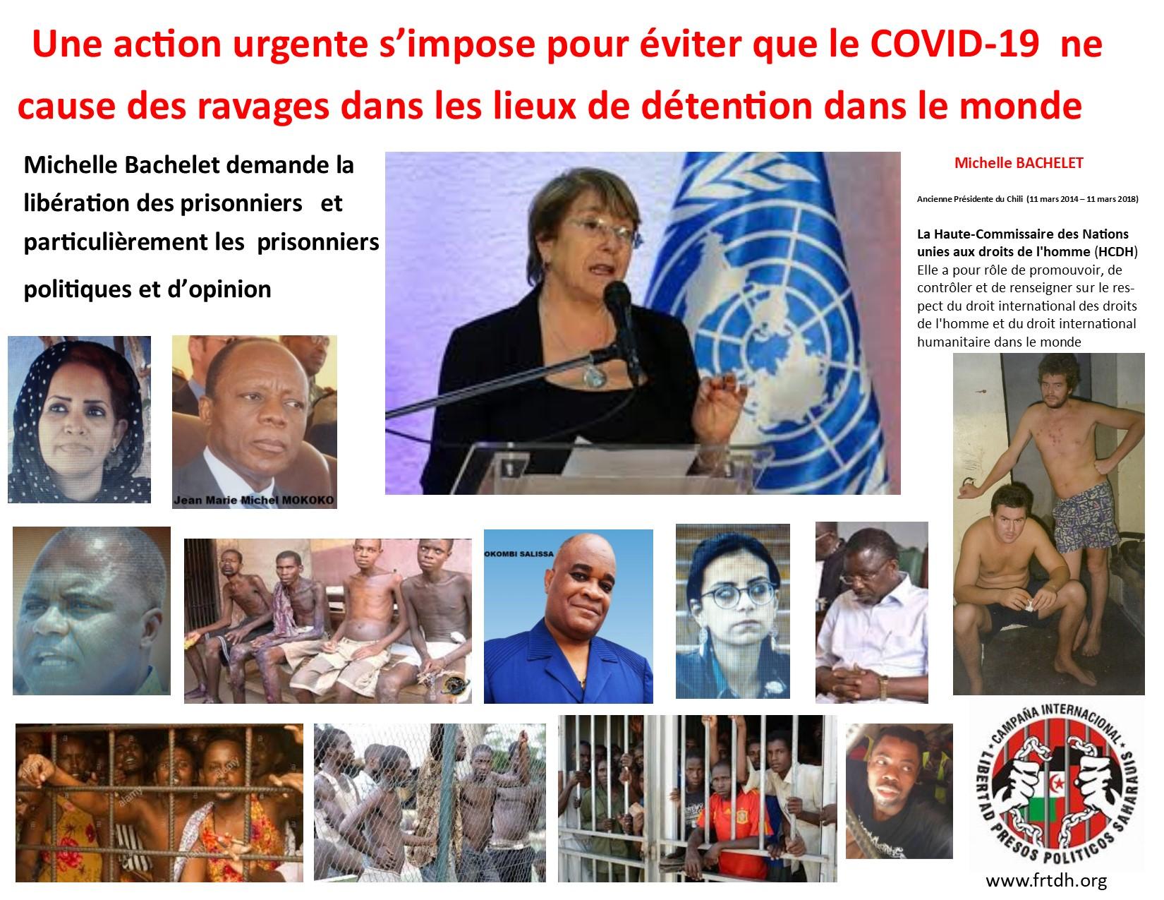 Michelle Bachelet exhorte les Etats à libérer les prisonniers (Nouvelles des ONG, INDH, organisations régionales et onusiennes)