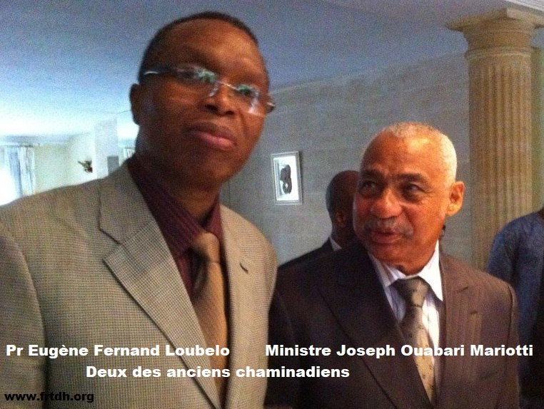 Les deux chaminadiens: Le Professeur Eugène Fernand Loubelo et Joseph Ouabari Mariotti Ancien garde des Sceaux Ministre de la justice  (Droit à l'éducation et au développement culturel)