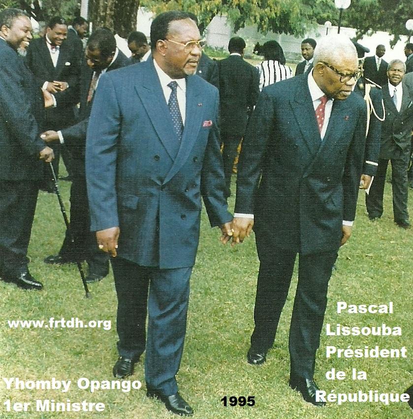 Yhombi Opango Premier Ministre  avec le Président Pascal Lissouba main dans la main   (Actualités)